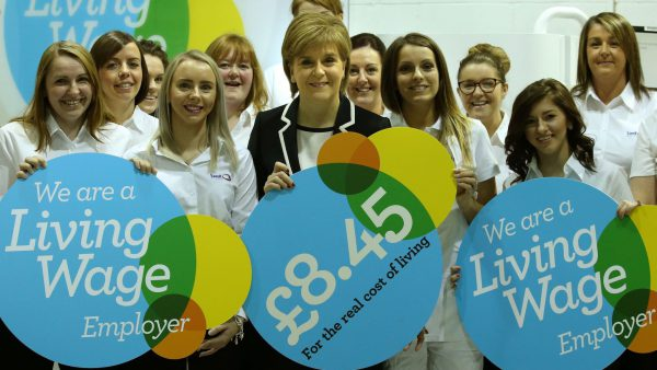 Scotland's First Minister Nicola Sturgeon at an event to mark the start of this year's Living Wage Week. Picture by Andrew Milligan PA Wire/PA Images